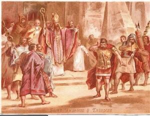 Carte postale Ambroise et Théodose, 1
