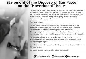 Communiqué du diocèse de San Pablo